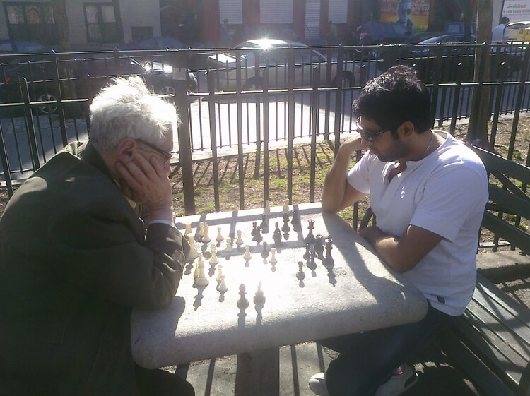 Game of chess in the park